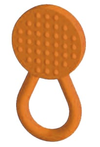 Chew Stixx® Lolli Knobby Orange