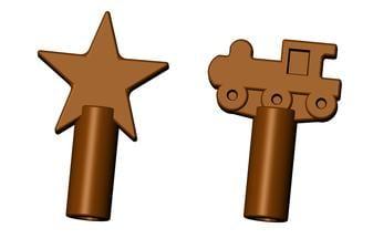 Chew Stixx® Pencil Topper Chocolate
