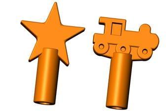 Chew Stixx® Pencil Topper Orange