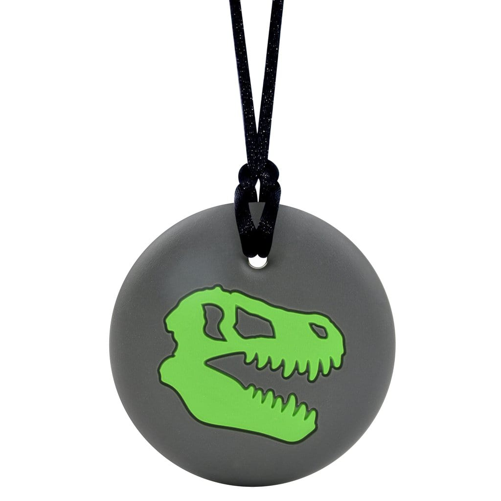 Munchables Sensory Chew Necklaces - Dinosaur Skull
