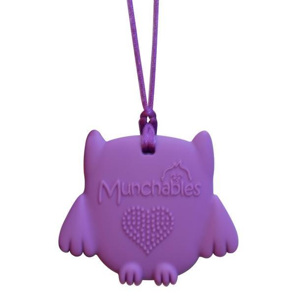 Munchables Sensory Chew Pendant - Baby Owl