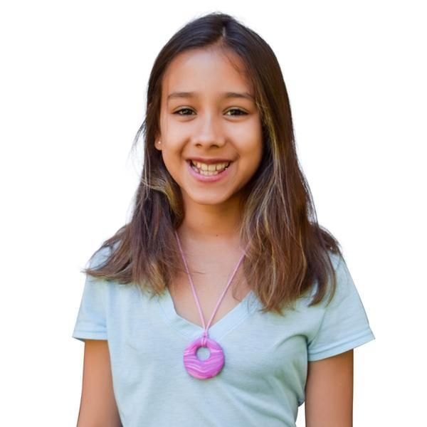 Munchables Sensory Chew Necklaces - Chew Blockz Pendant