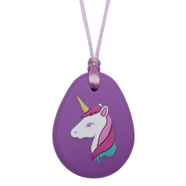 Munchables Sensory Chew Necklaces - Unicorn Pendant