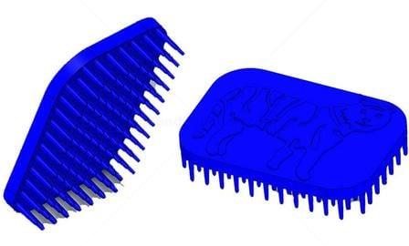 Tiger Hand Fidget Sensory Brush Blue