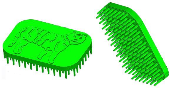 Tiger Hand Fidget Sensory Brush Green